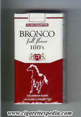 bronco colombian version colombian blend full flavor l 20 s colombia