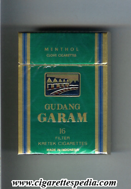 gudang garam menthol ks 16 h green indonesia