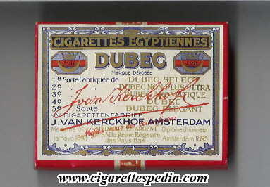 dubec cigarettes egyptiennes s 20 b holland