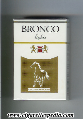 bronco colombian version colombian blend lights ks 20 h colombia
