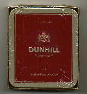 American blue tip cigarettes Dunhill flavors