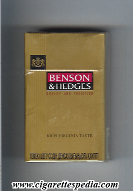 Carton cigarettes Benson Hedges England duty free
