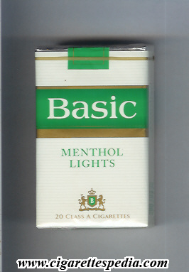 basic design 2 with b menthol lights ks 20 s usa