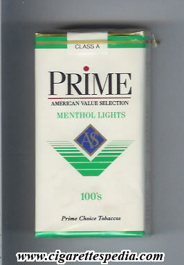 prime menthol lights l 20 s usa
