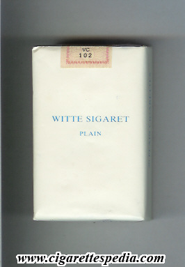 witte sigaret plain ks 20 s holland