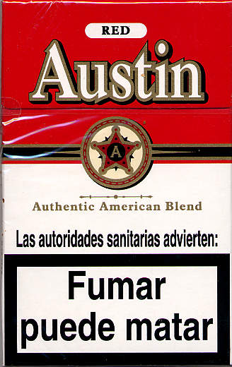 Austin Red Cigarettes Pedia