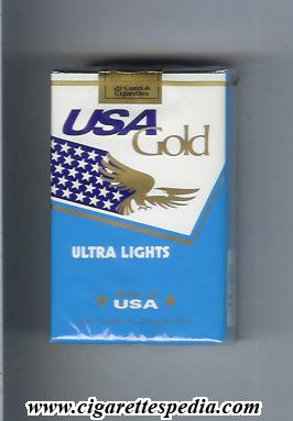 USA Gold (Ultra Lights) KS-20-S - USA - Cigarettes Pedia