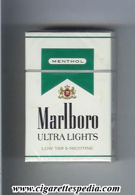 marlboro ultra lights menthol ks20h usa cigarettes