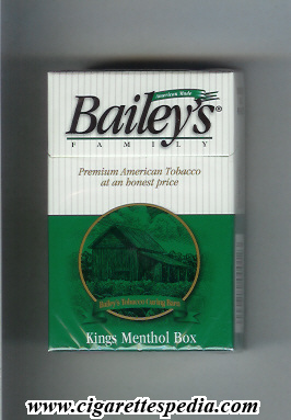 bailey s family menthol ks 20 h usa
