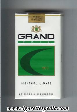 grand prix menthol lights l 20 s usa cigarettes pedia. Black Bedroom Furniture Sets. Home Design Ideas
