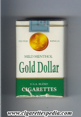 gold dollar american version mild menthol ks 20 s usa