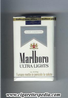 marlboro ultra lights ks20s switzerland and usa