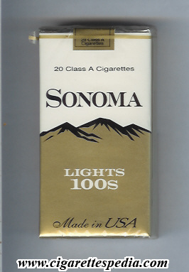 Sonoma lights cigarettes