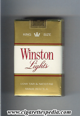 Winston Lights Gold And White KS 20 S USA Cigarettes
