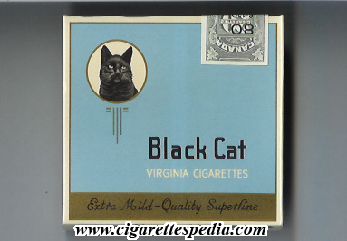 black cat with a cat virginia cigarettes extra mild s 20 b grey canada