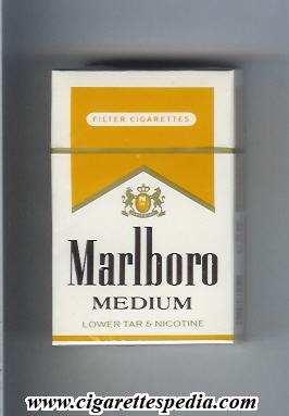Marlboro Medium KS 20 H White And Yellow
