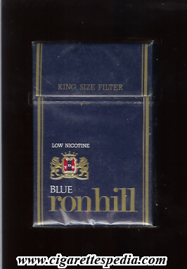 ronhill ronhill from below with lines from the left and right blue low nicotine ks 20 h blue yugoslavia croatia