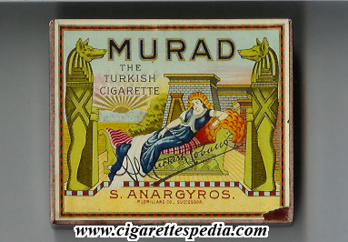 murad the turkish cigarette s anargyros s 20 b usa