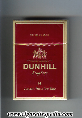 dunhill english version filter de luxe ks 14 h malaysia