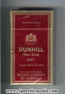 dunhill english version new york l 20 h germany