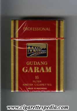 gudang garam professional ks 16 h red indonesia