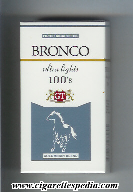 bronco colombian version colombian blend ultra lights l 20 h usa colombia