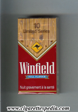 winfield australian version limited series full flavour ks 10 h brown red holland australia