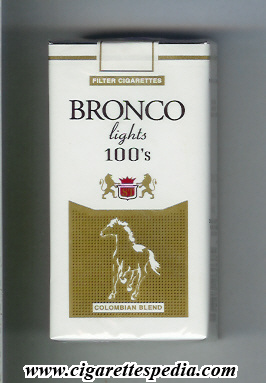 bronco colombian version colombian blend lights l 20 s colombia