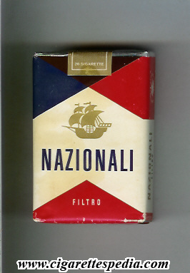 nazionali filtro with ship ks 20 s white red blue italy