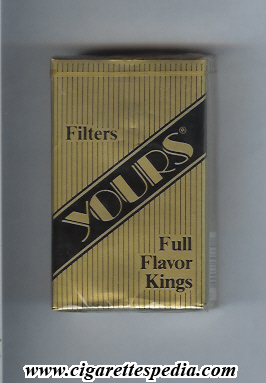 yours r full flavor ks 20 s gold black usa
