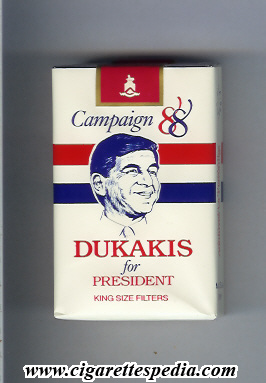 campaign 88 dukakis for president ks 20 s usa