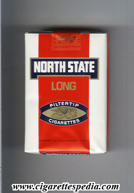 North State (design 1) (Filtertip Long) KS-20-S (red and white) - Finland - Cigarettes Pedia